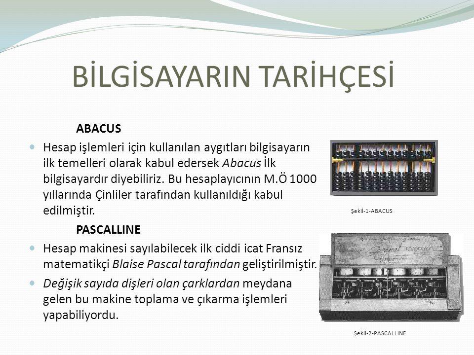 ABACUS Hesap işlemleri için kullanılan aygıtları bilgisayarın ilk temelleri olarak kabul edersek Abacus İlk bilgisayardır diyebiliriz. Bu hesaplayıcın