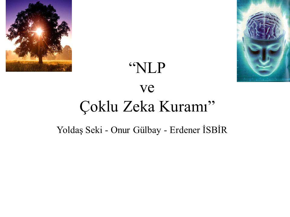 """""""NLP ve Çoklu Zeka Kuramı"""" Yoldaş Seki - Onur Gülbay - Erdener İSBİR"""