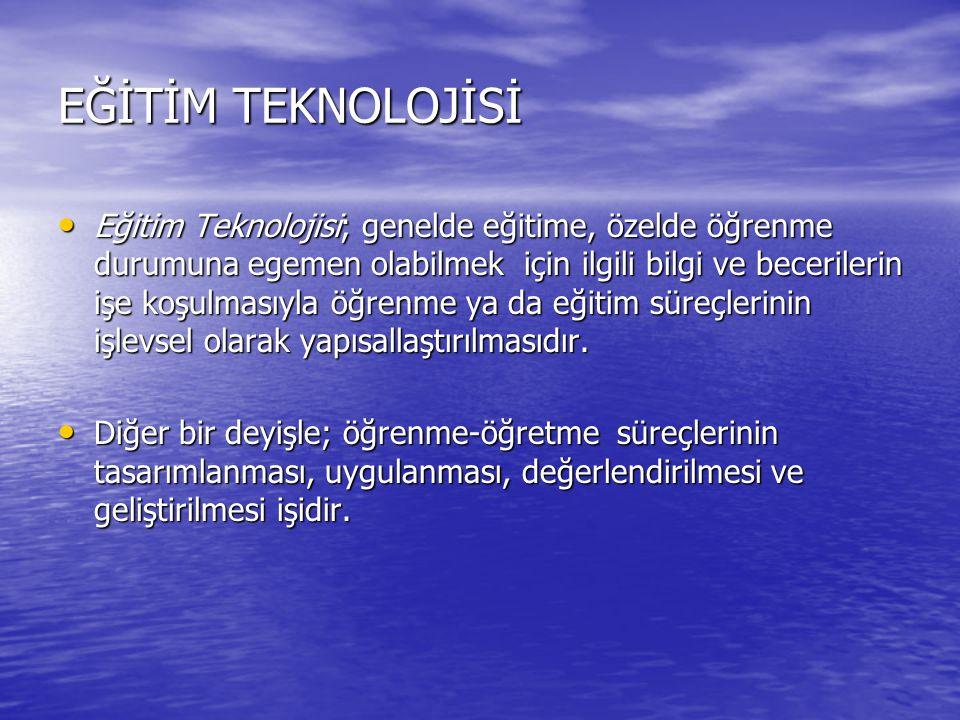 Eğitim teknolojisinin temel ilkeleri 1.Hedef 1. Hedef 2.
