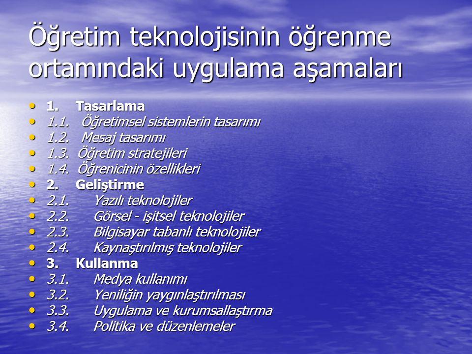 ÖĞRETİM TASARIMI VE TEKNOLOJİSİ TARİHİ 8.1980: Mikrobilgisayar eğitim teknolojisini etkiliyor.
