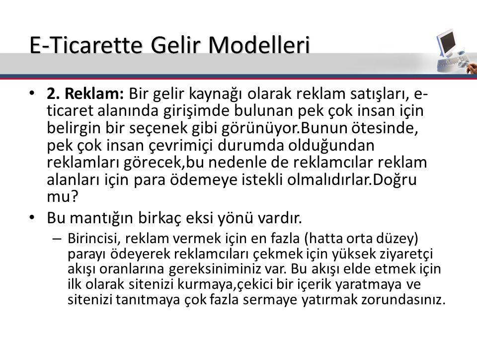 E-Ticarette Gelir Modelleri 2.