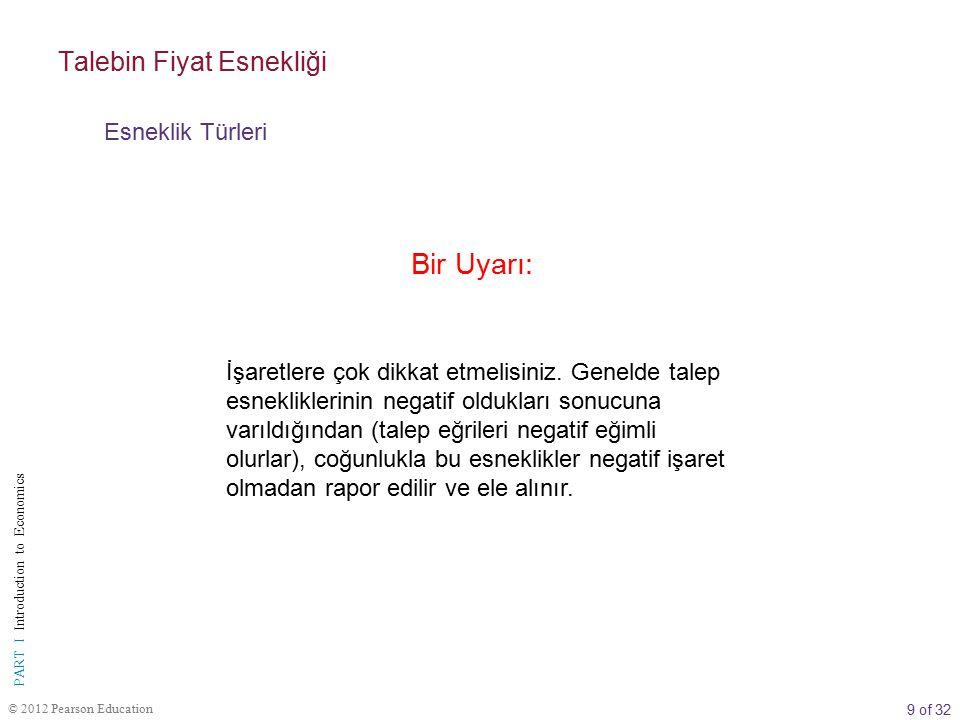 9 of 32 PART I Introduction to Economics © 2012 Pearson Education İşaretlere çok dikkat etmelisiniz.