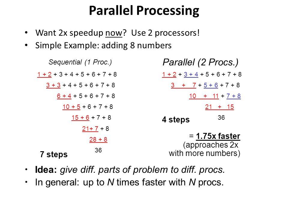 SIMD Single Instruction Multiple data MIMD Multiple Instruction Multiple data
