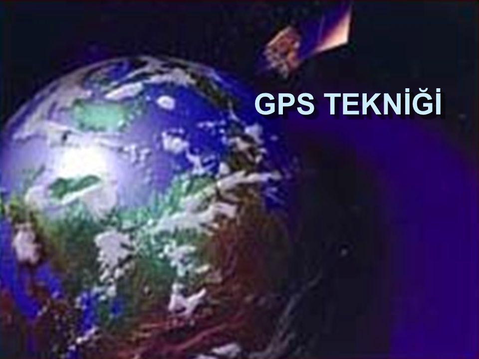 Kullanıcı Bölümü GPS Üç Bölümden Oluşur Kontrol BÖlümü Uzay Bölümü İzleme İstasyonları Yer Antenleri Ana İstasyon