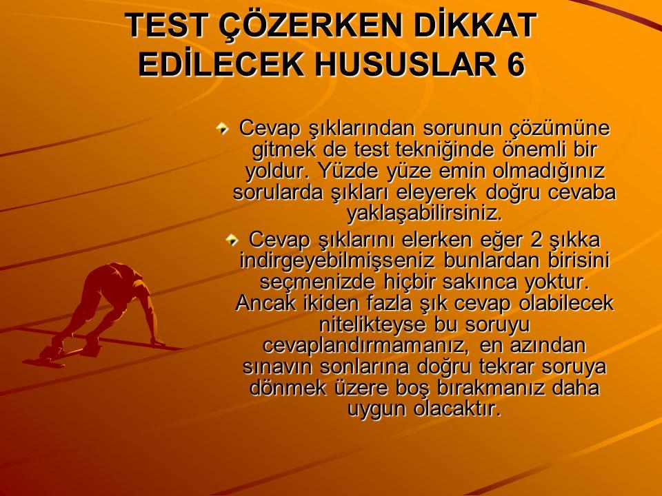 TEST ÇÖZERKEN KODLAMA KONUSUNDA DİKKAT EDİLECEK HUSUSLAR ( DENEME SINAVLARI İÇİN ) Test çözümünde kodlama da önemli bir yer işgal eder.