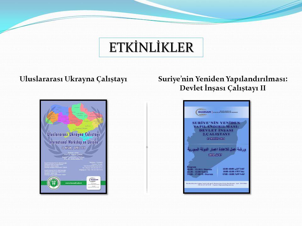 ETKİNLİKLER Rusya'nın Bölgeselleşme Politikaları Türkiye'nin Arabuluculuk Diplomasisi