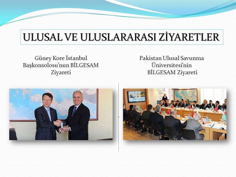 Güney Kore İstanbul Başkonsolosu'nun BİLGESAM Ziyareti Pakistan Ulusal Savunma Üniversitesi'nin BİLGESAM Ziyareti ULUSAL VE ULUSLARARASI ZİYARETLER