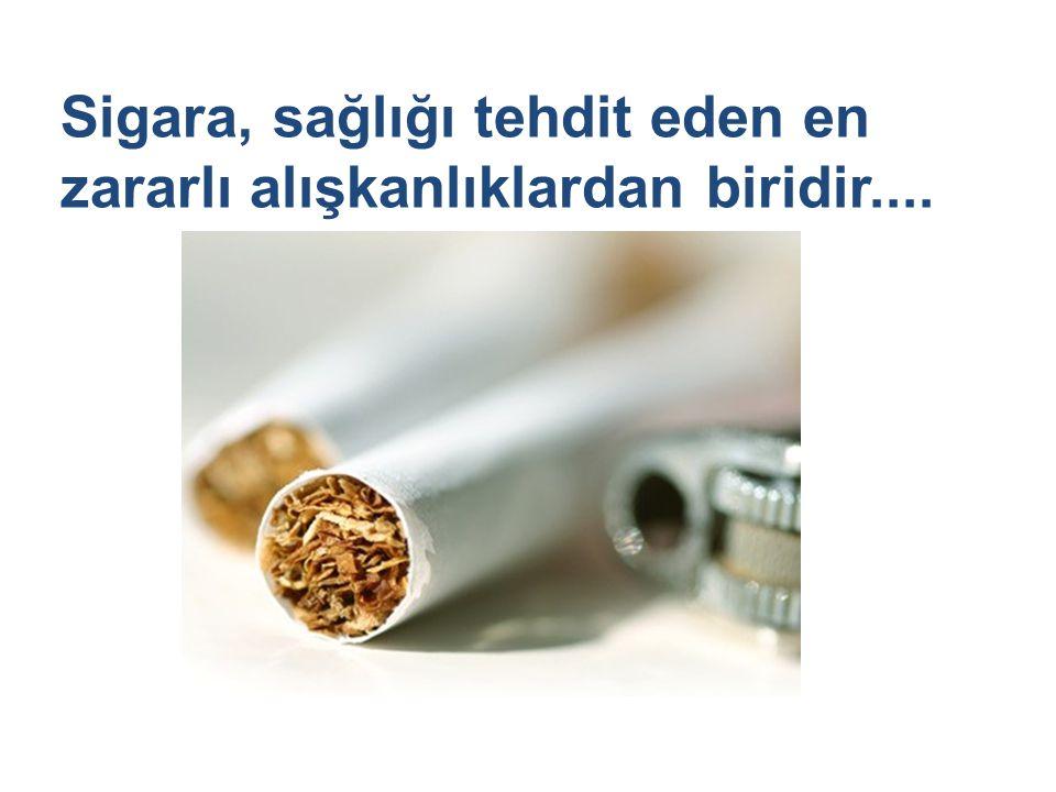 Sigara içilen ortamda bulunma da sigaranın zararlı etkilerinin görülmesine neden olduğu bilinmektedir...