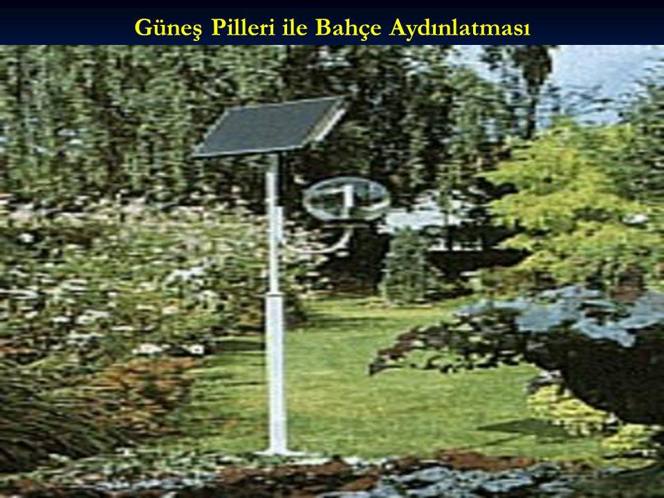 Güneş Pilleri ile Bahçe Aydınlatması