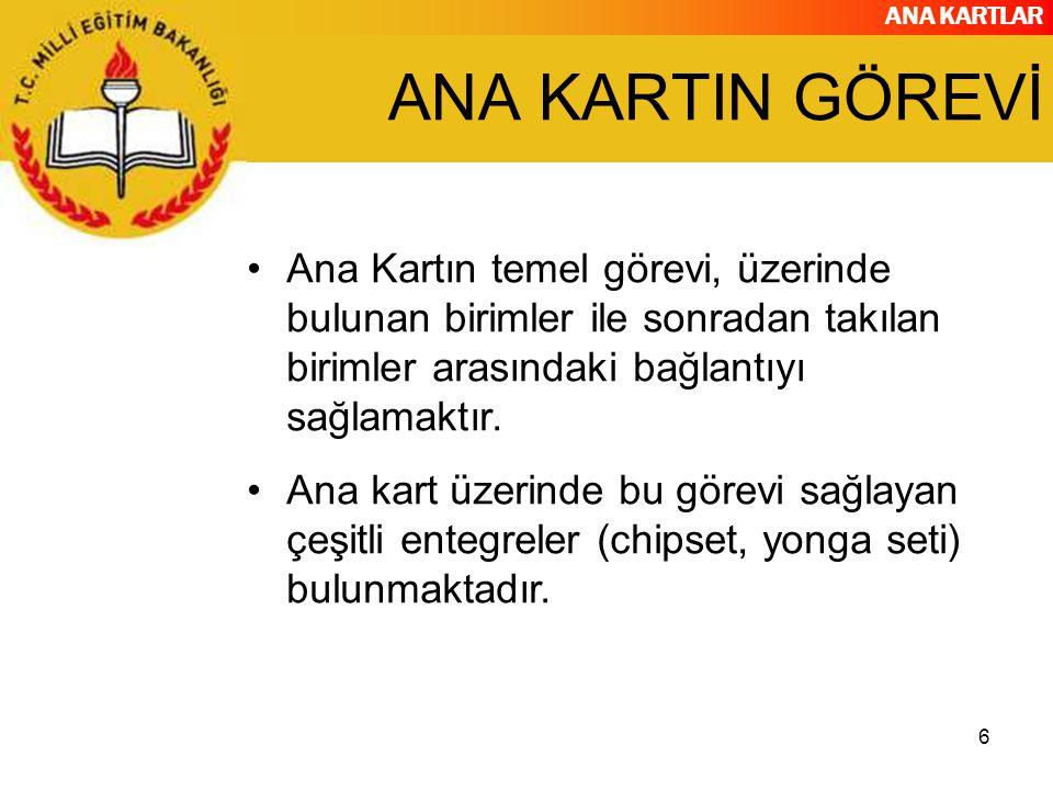 ANA KARTLAR 37 CHIPSET ÜRETİCİLERİ..