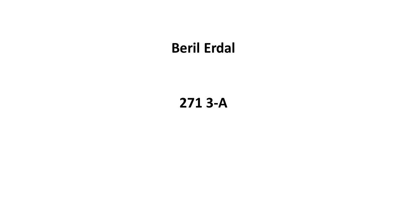 Beril Erdal 271 3-A