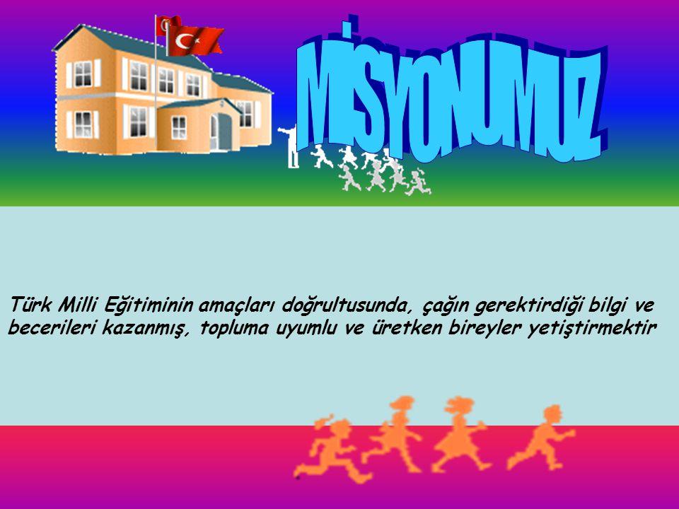 Okulumuz; Atatürk inkılâplarına ve Anayasamızın başlangıcında ifadesini bulan Türk Milliyetçiliğine bağlı, Türk Milletinin milli, ahlaki insani, manev