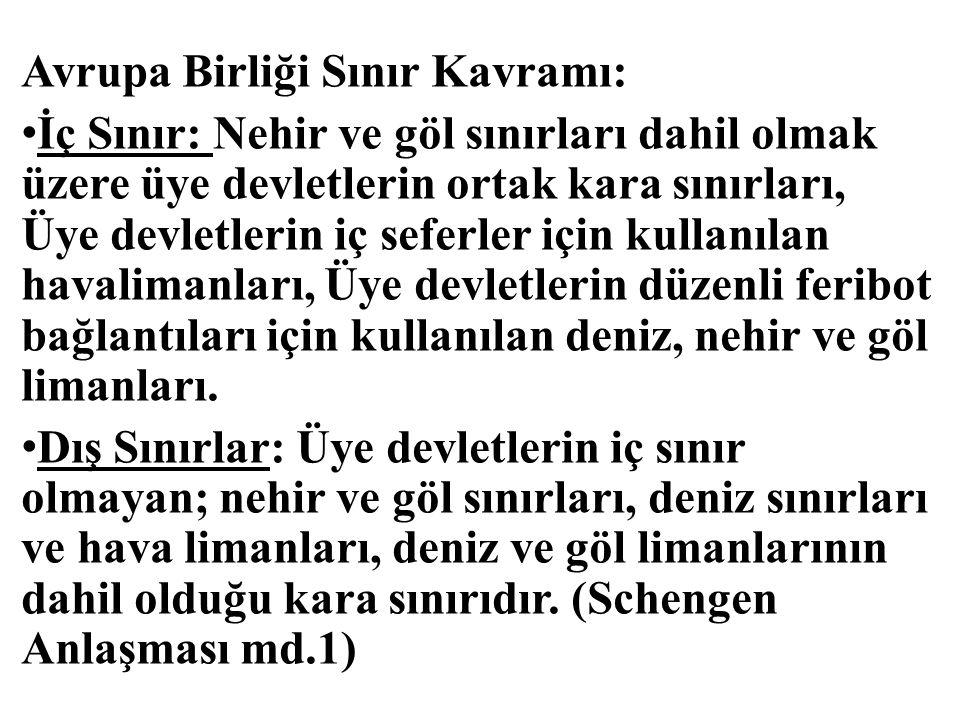 Türkiye'de Sınır Kavramı ve Diğer İlgili Kavramlar: Sınır: Komşu iki devletin ülkelerini birbirinden ayıran, antlaşmalarla tespit ve icap eden yerleri özel işaretlerle belli edilmiş siyasî bir hattır.