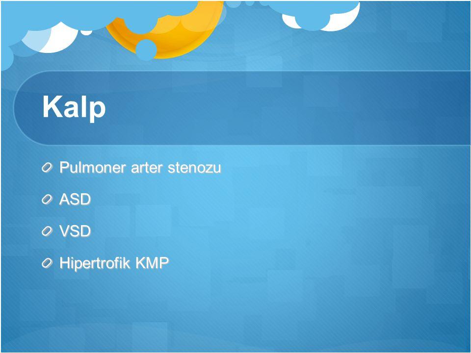 Kalp Pulmoner arter stenozu ASDVSD Hipertrofik KMP