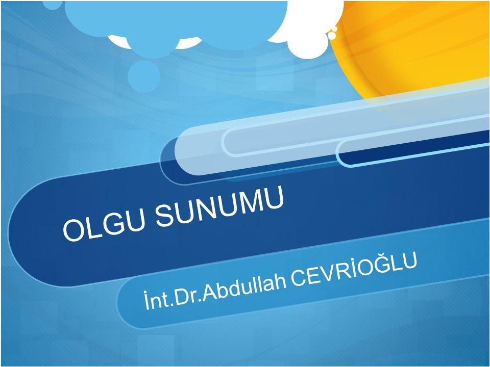 Laboratuvar Hb:7.86 gr/dl BUN:16 mg/dl AST:52 U/L BK:28200 /mm3 Kre.:0,56 mg/dl ALT:12 U/L Neu:22500 /mm3 Na:121mEq/L MCV:62,2 fl K:4,73 mEq/L PLT:304000 /mm3 Ca:8,2mEq/L CRP:1,114 mg/dl Alb.:3,32 gr/dl
