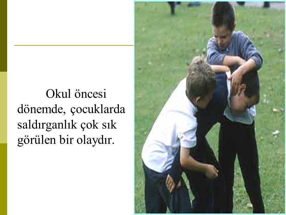 Okul öncesi dönemde, çocuklarda saldırganlık çok sık görülen bir olaydır.