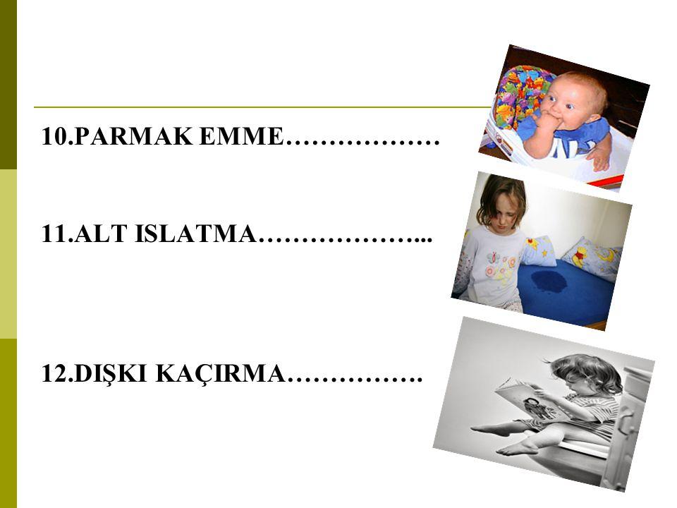 Nedenleri;  Öncelikle yeni doğan bebek yaşamını sürdürebilmek için emer.6 yaşına kadar parmak emme doğal sayılmalıdır.