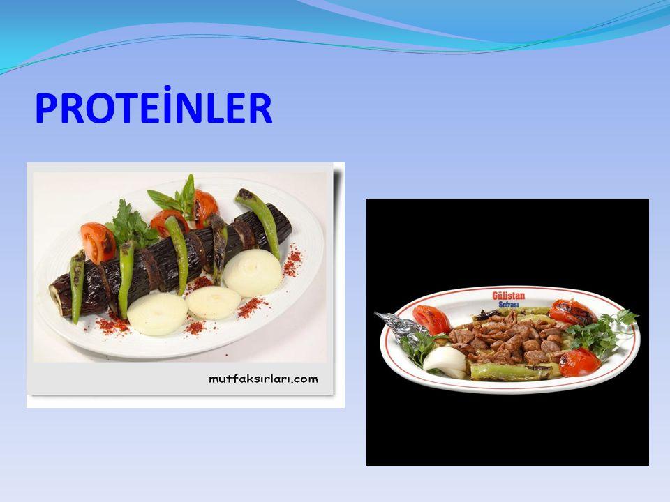 KARBONHİDRATLAR Birinci derecede enerji veren besinlerdir Tatlılar,börek, makarna ve meyvelerde bol miktarda bulunur.