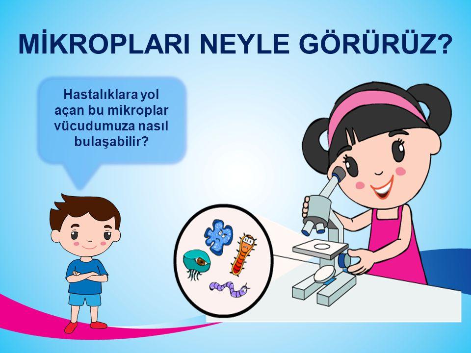 Çevremizde hastalıklara yol açan çeşitli mikroplar bulunmaktadır. Sizce bu mikropları gözümüzle görebilir miyiz? MİKROPLAR Bakteri Mantar Parazit Virü