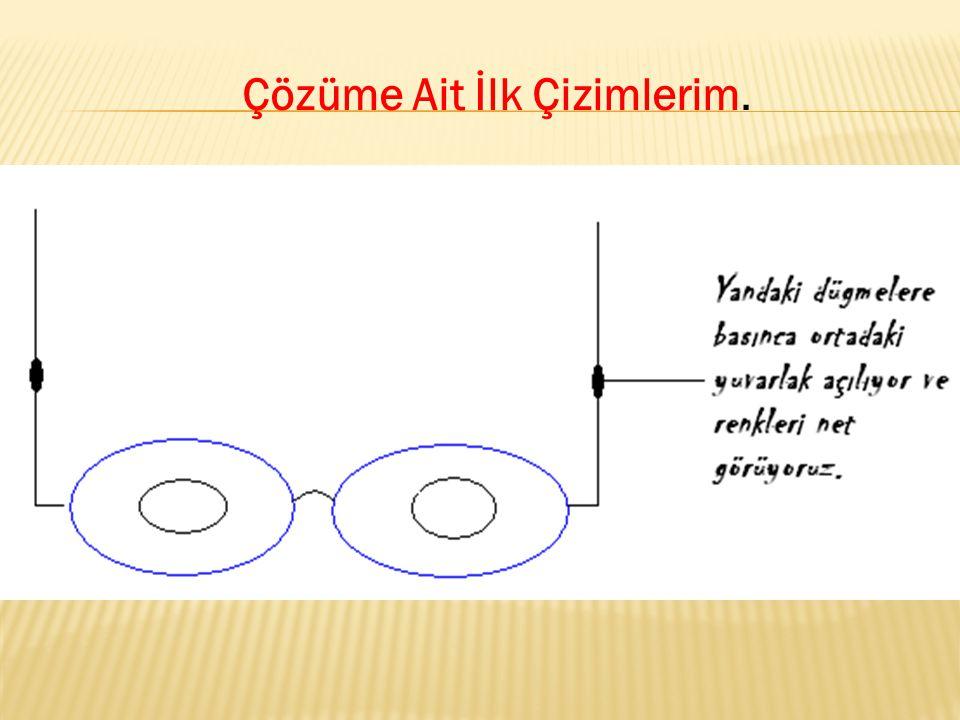 Çözüme yönelik yapılan öneriler: Fatma İclal: Gözlüğün tam ortasına daha küçük nokta koyabilirsin.