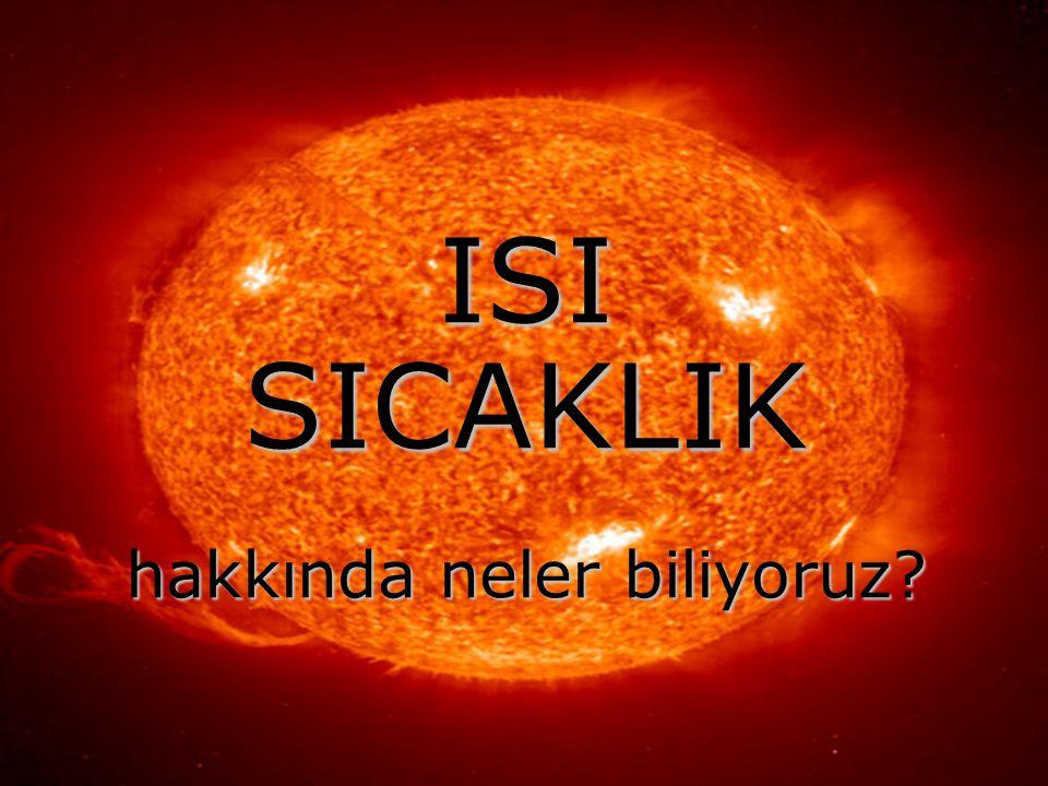 Reklamlarda, haberler ve hava durumu programlarında sık sık duyduğumuz; Düşük ısılarda bile mükemmel temizlik Dış ısı göstergesi Vücut ısısı düştü Bugün Ankara'da en yüksek sıcaklık 32°C