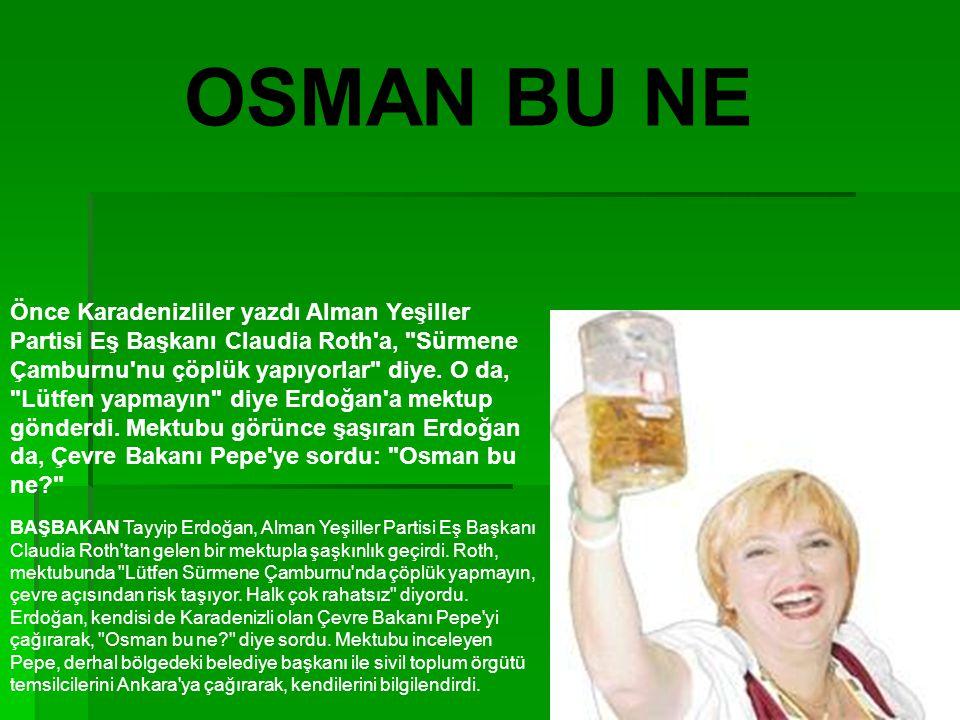 Önce Karadenizliler yazdı Alman Yeşiller Partisi Eş Başkanı Claudia Roth a, Sürmene Çamburnu nu çöplük yapıyorlar diye.