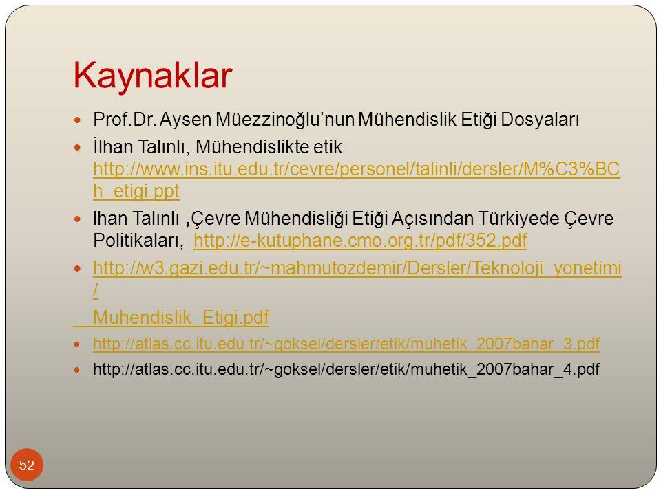 Kaynaklar 52 Prof.Dr.