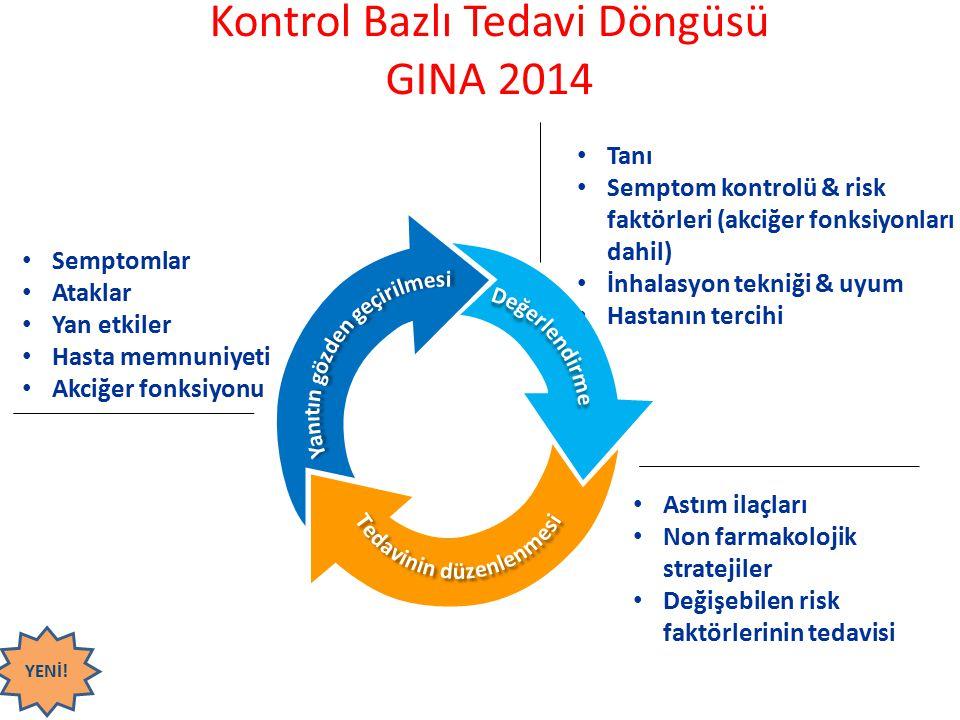 Semptomlar Ataklar Yan etkiler Hasta memnuniyeti Akciğer fonksiyonu Tanı Semptom kontrolü & risk faktörleri (akciğer fonksiyonları dahil) İnhalasyon t