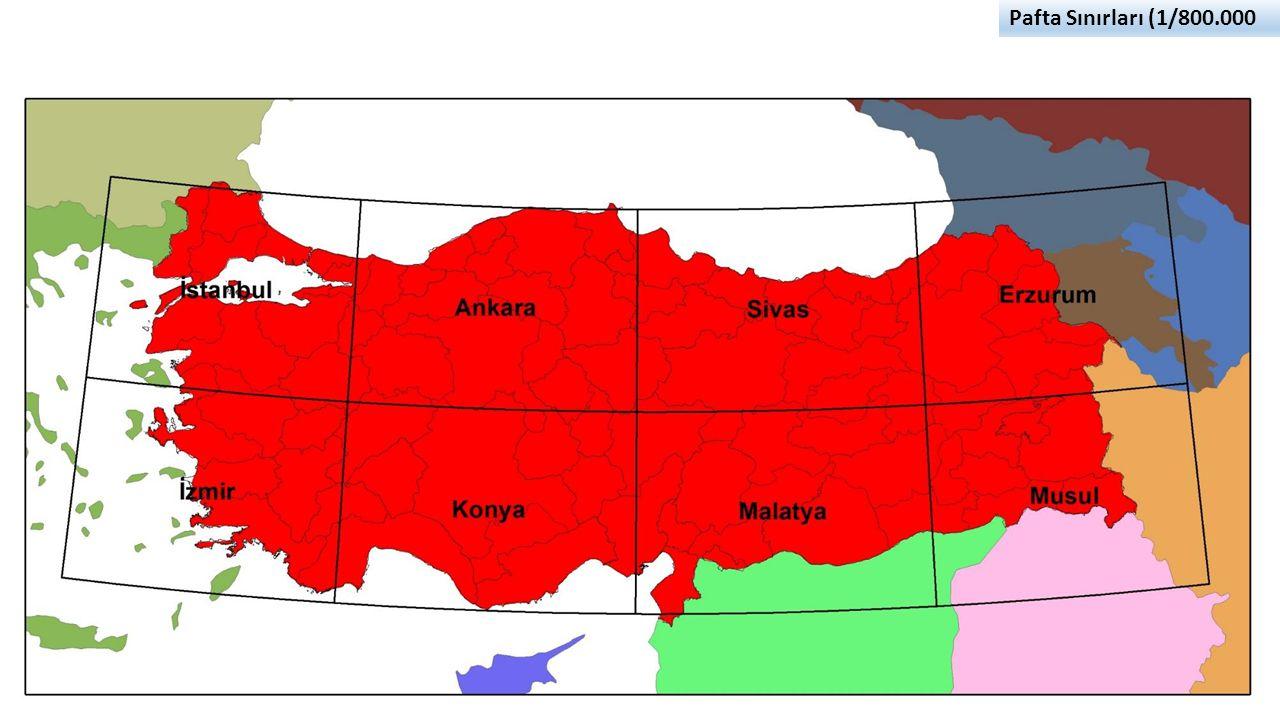 Pafta Sınırları (1/800.000