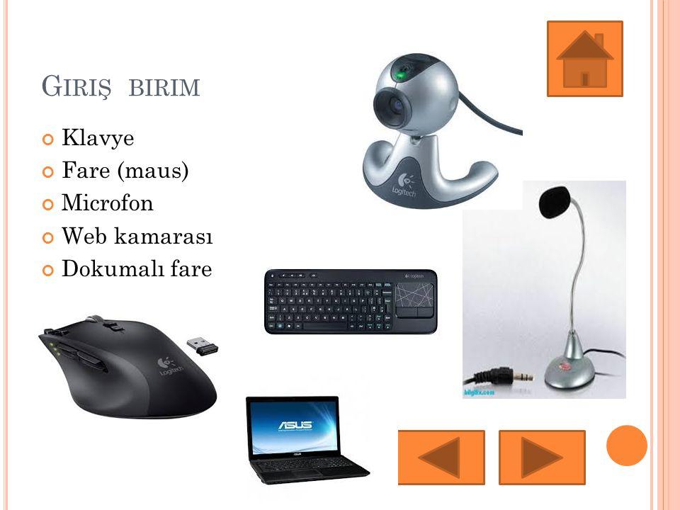 K LAVYE Bilgisayar ile iletişim kurmamızı sağlayan genellikle üzerinde 101-102 adet tuş bulunan cihaz.