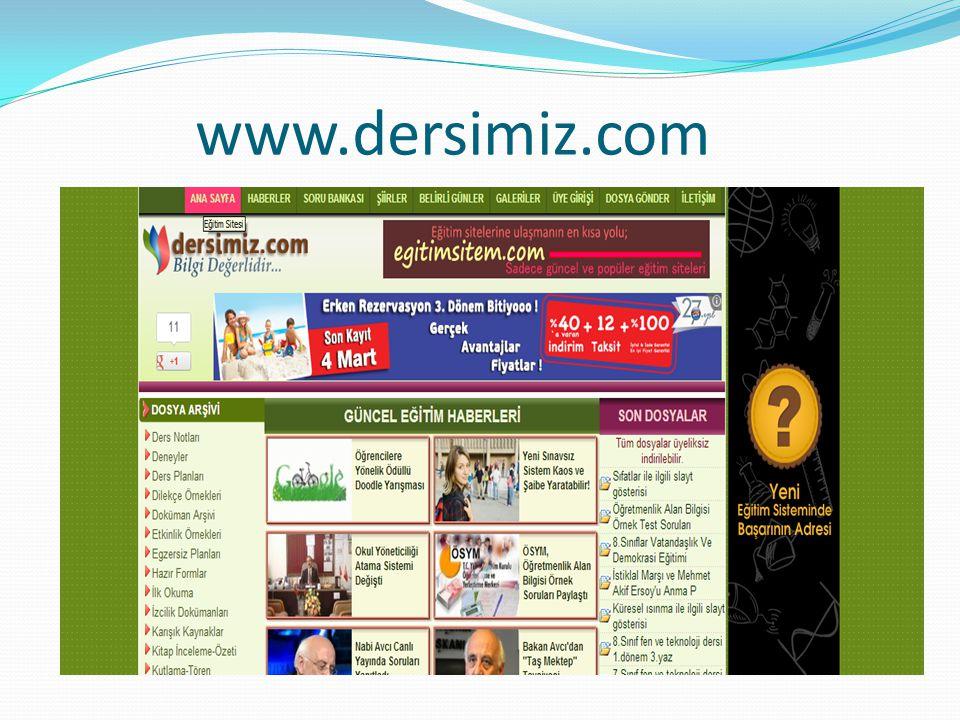 Bu sitede çeşitli başlıklar altında konular verilmiştir ve öğrencilerin kolayca bilgilere ulaşmasın sağlanmıştır.