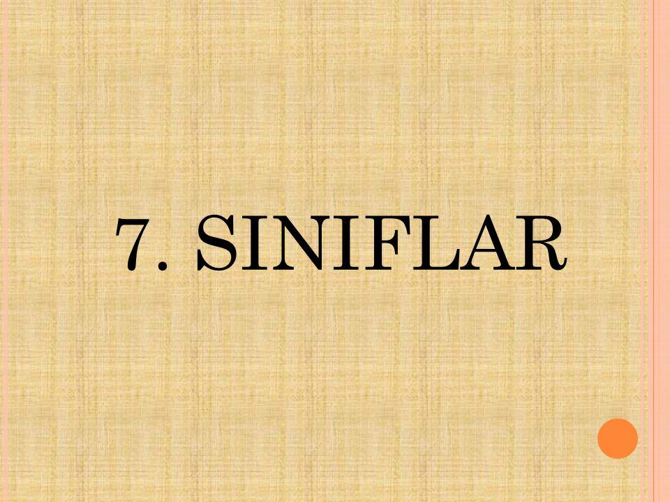 7. SINIFLAR