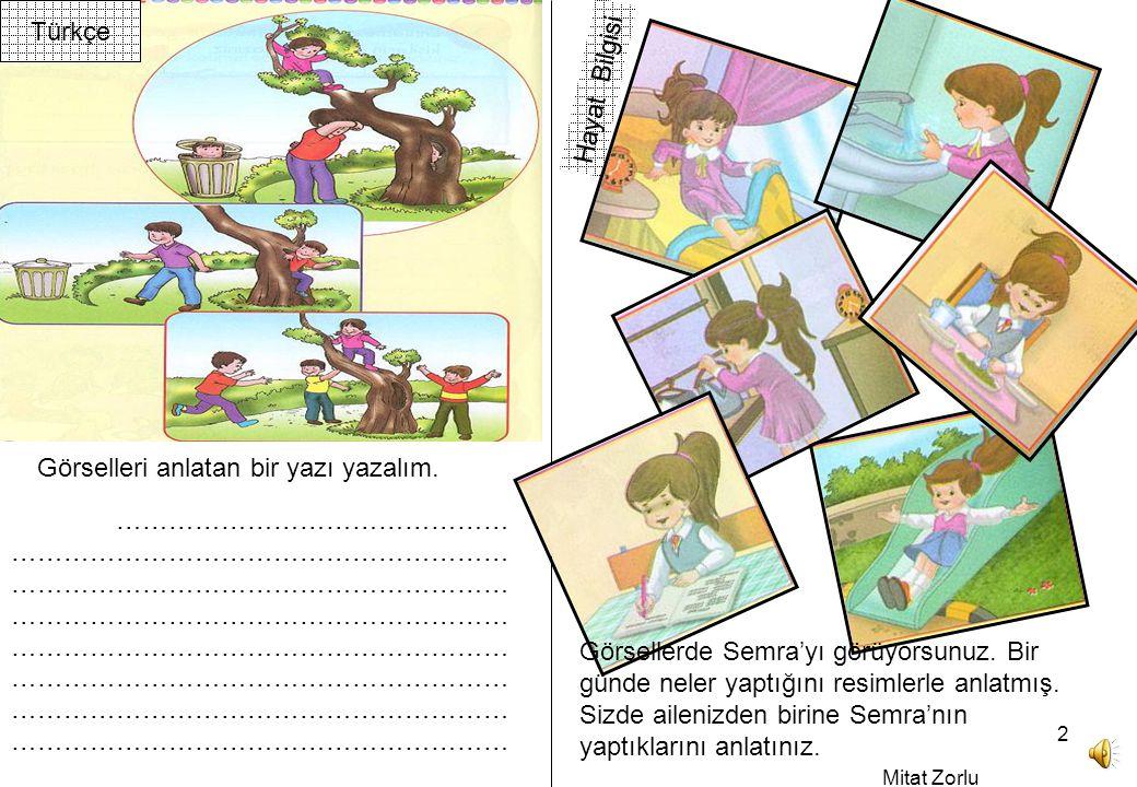 Mitat Zorlu 2 Hayat Bilgisi Türkçe Görselleri anlatan bir yazı yazalım.