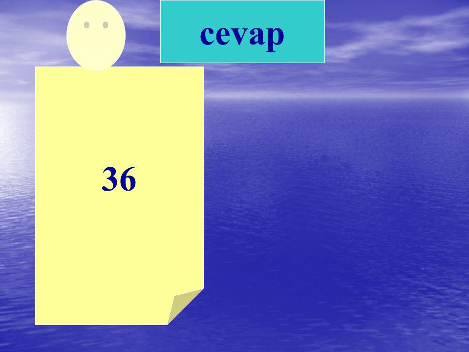36 cevap