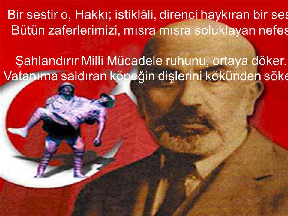 Bedir aslanına denk Mehmetin,Fatihin,Yavuzun sesi.