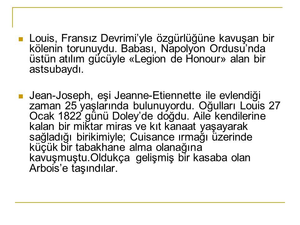 Louis, Fransız Devrimi'yle özgürlüğüne kavuşan bir kölenin torunuydu.
