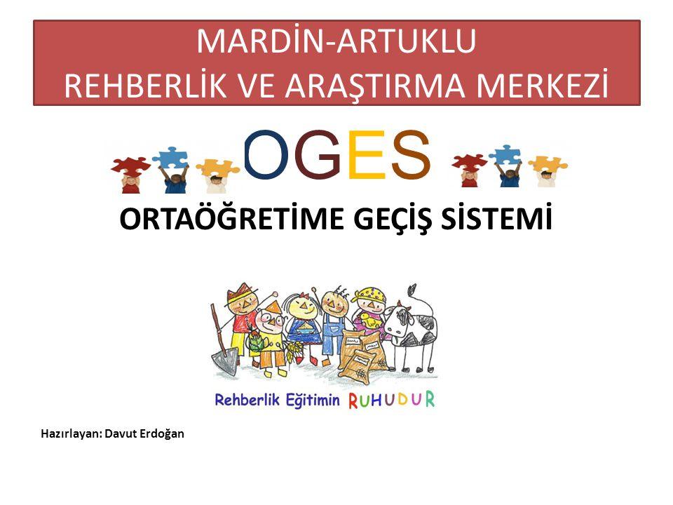 MARDİN-ARTUKLU REHBERLİK VE ARAŞTIRMA MERKEZİ OGES ORTAÖĞRETİME GEÇİŞ SİSTEMİ Hazırlayan: Davut Erdoğan