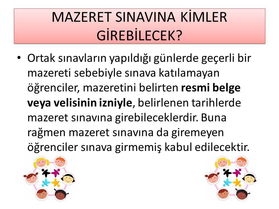 MAZERET SINAVINA KİMLER GİREBİLECEK.