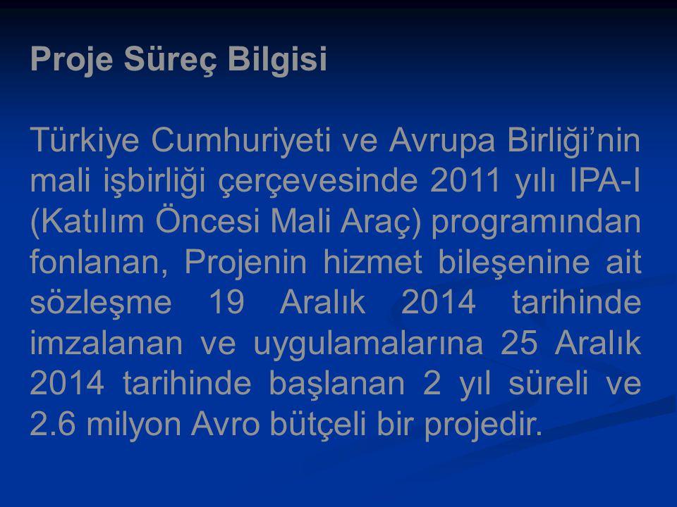 Proje Süreç Bilgisi Türkiye Cumhuriyeti ve Avrupa Birliği'nin mali işbirliği çerçevesinde 2011 yılı IPA-I (Katılım Öncesi Mali Araç) programından fonl