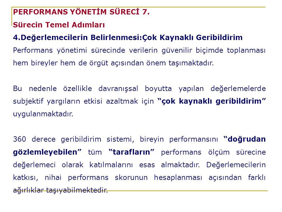 PERFORMANS YÖNETİM SÜRECİ 7.
