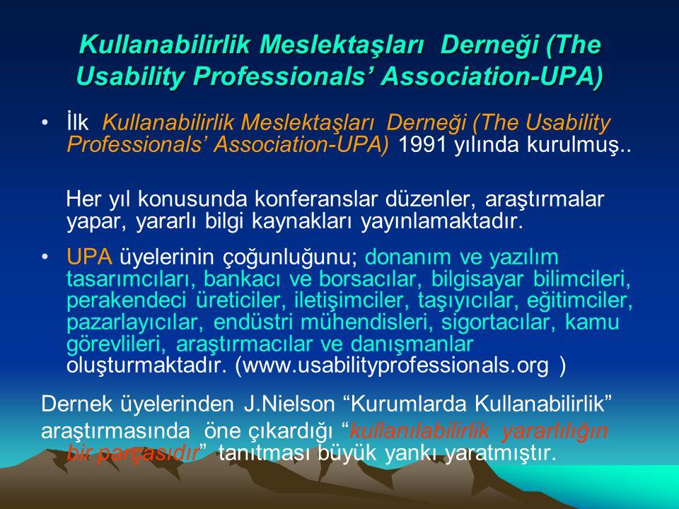 Kullanabilirlik Meslektaşları Derneği (The Usability Professionals' Association-UPA) İlk Kullanabilirlik Meslektaşları Derneği (The Usability Professi