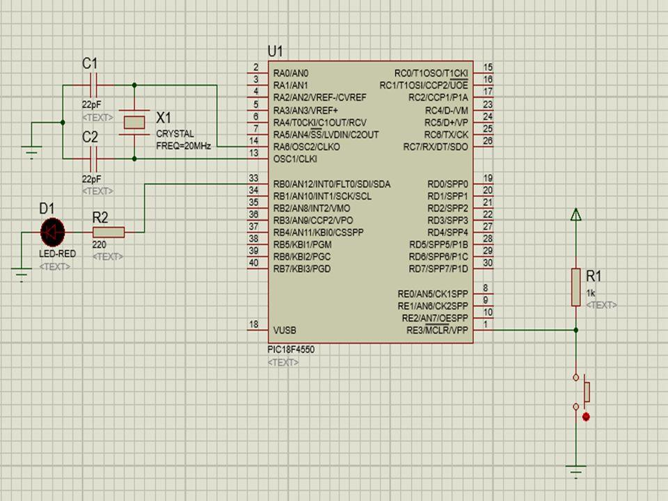 Soru 2: PORTB.0 – PORTB.7 pinleri arası 8 adet LED bağlıdır.