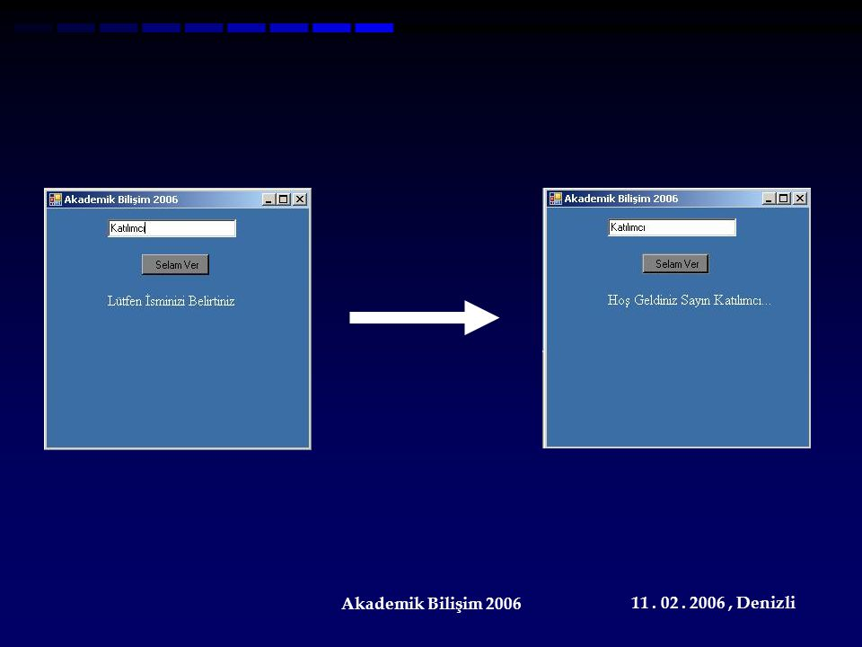 11. 02. 2006, Denizli Akademik Bilişim 2006