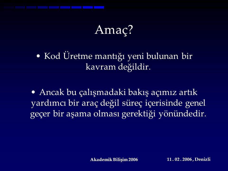 11.02. 2006, Denizli Akademik Bilişim 2006 Temel Anlayış...