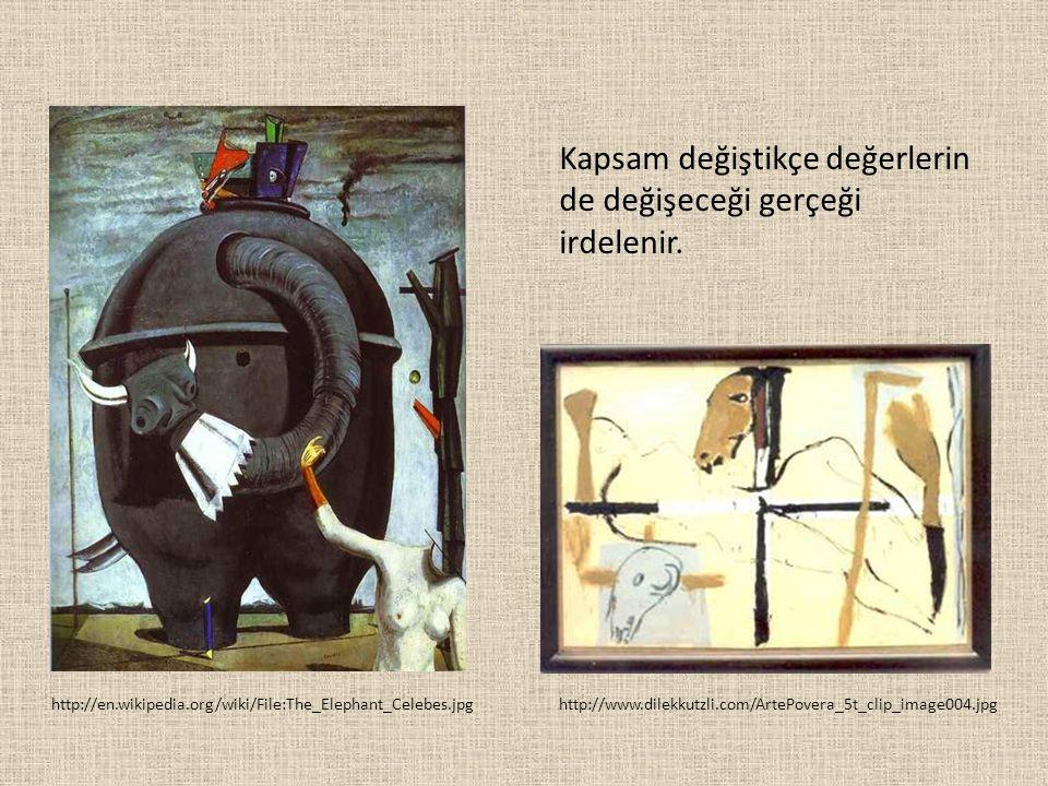 http://en.wikipedia.org/wiki/File:The_Elephant_Celebes.jpg Kapsam değiştikçe değerlerin de değişeceği gerçeği irdelenir. http://www.dilekkutzli.com/Ar