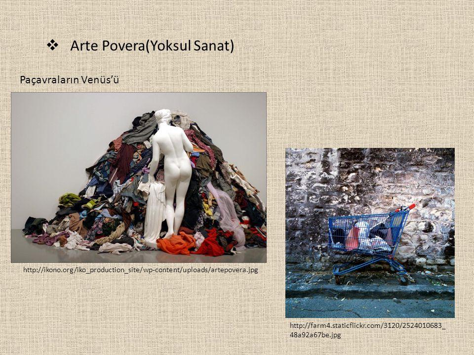  Arte Povera(Yoksul Sanat) http://ikono.org/iko_production_site/wp-content/uploads/artepovera.jpg http://farm4.staticflickr.com/3120/2524010683_ 48a9