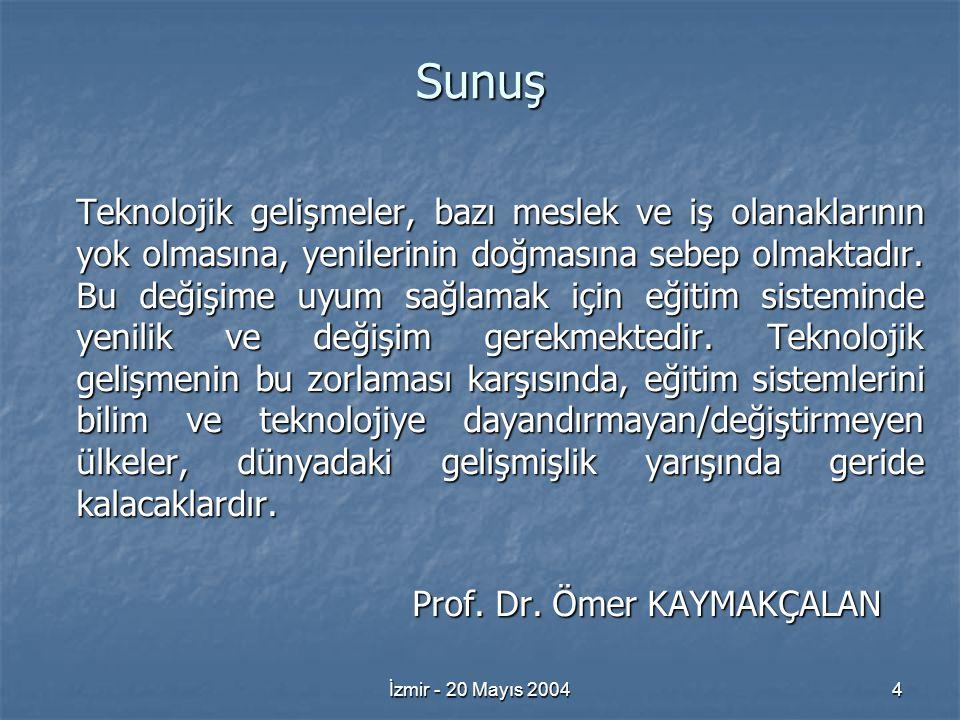 İzmir - 20 Mayıs 20045 Elektrik Mühendisliğindeki buluşlar, mekanik buluşlardan 100 sene geç başlamış ise de bu daldaki bilimsel ve teknolojik gelişmeler üssel ve devrimci olmuş ve 1970'lerin ortasından itibaren Bilişim çağını başlatmıştır.