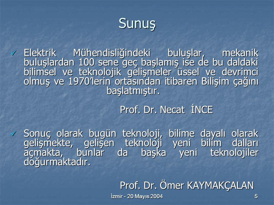 İzmir - 20 Mayıs 200416 İş Alanları 19.Mobil İletişimi 20.
