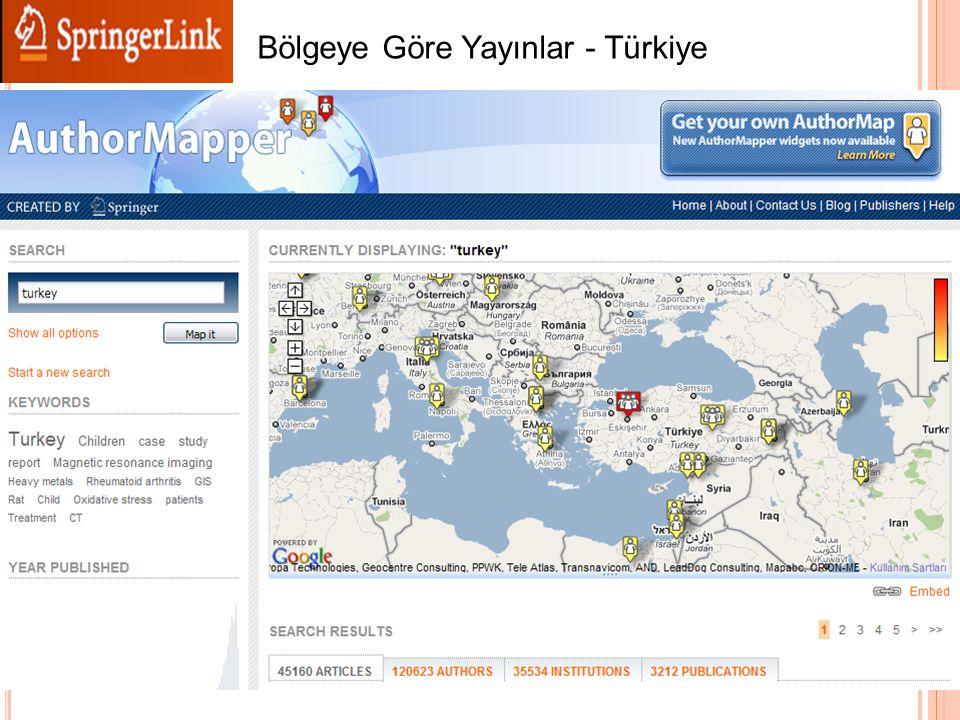 Bölgeye Göre Yayınlar - Türkiye