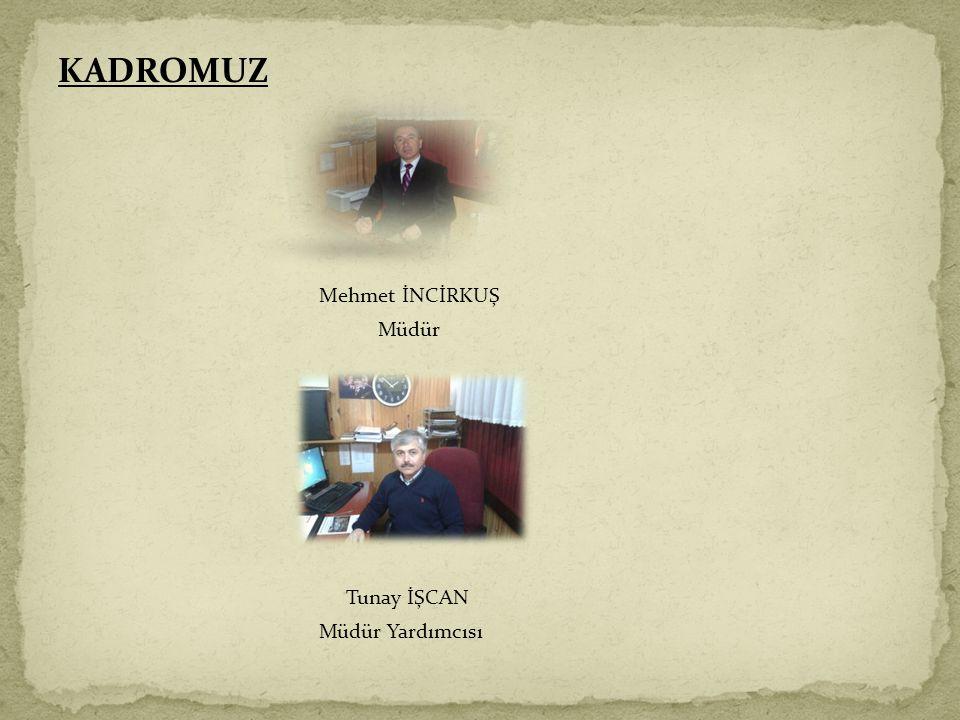 KADROMUZ Mehmet İNCİRKUŞ Müdür Tunay İŞCAN Müdür Yardımcısı